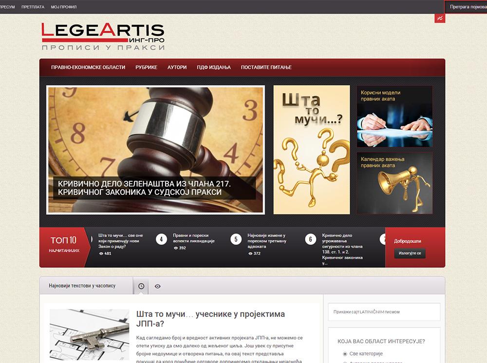 Online časopis Legeartis