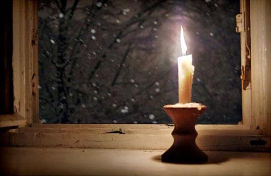 Sveća i sneg